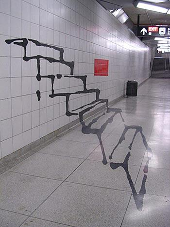 Drawn stairs allusion Graffiti Weird stairs visual Graffiti