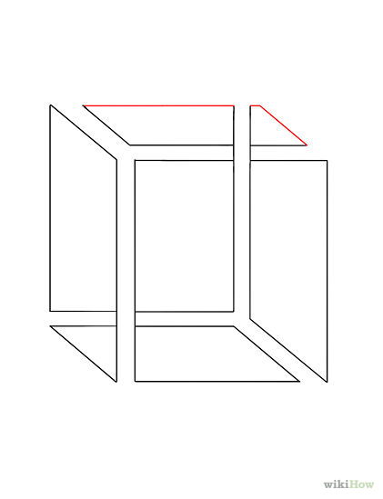 Drawn illusion impossible cube An  Draw Cube Impossible