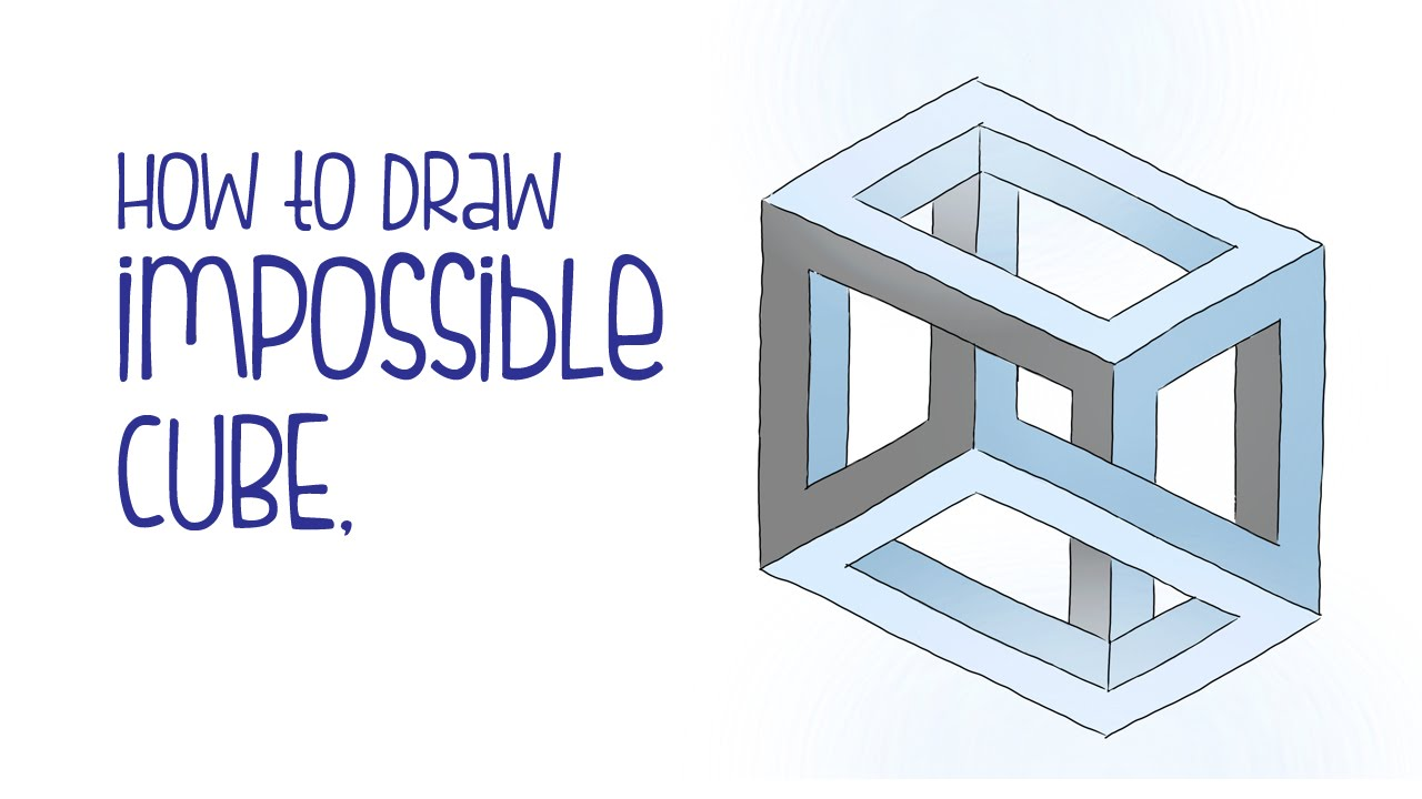 Drawn illusion impossible cube How impossible draw YouTube optical