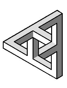 Drawn illusion impossible cube Shapes on a best Impossible