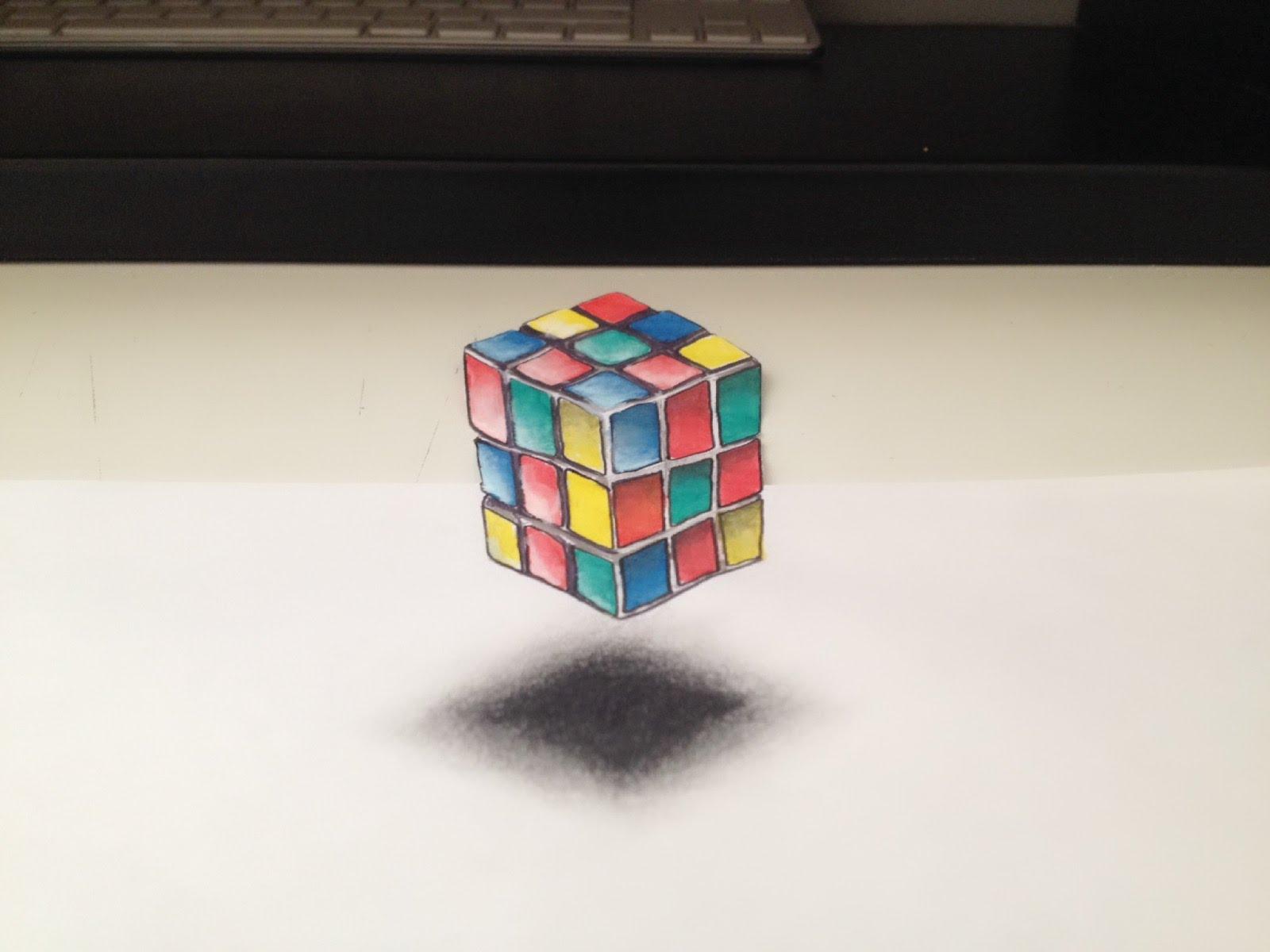 Cube Rubik's Illusion 3D YouTube