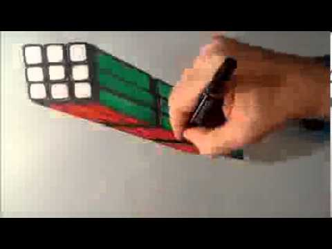 Drawn illusion rubix cube #3