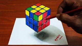 Drawn illusion rubix cube #2