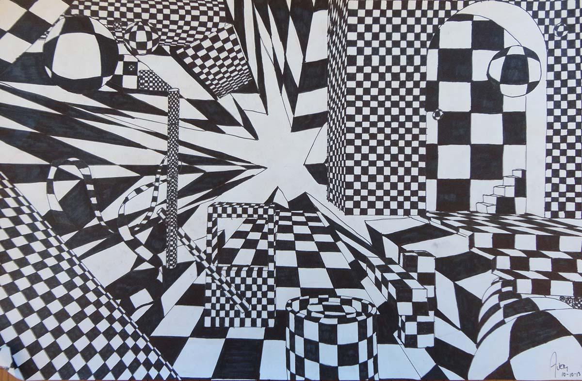 Drawn illusion space drawing #10