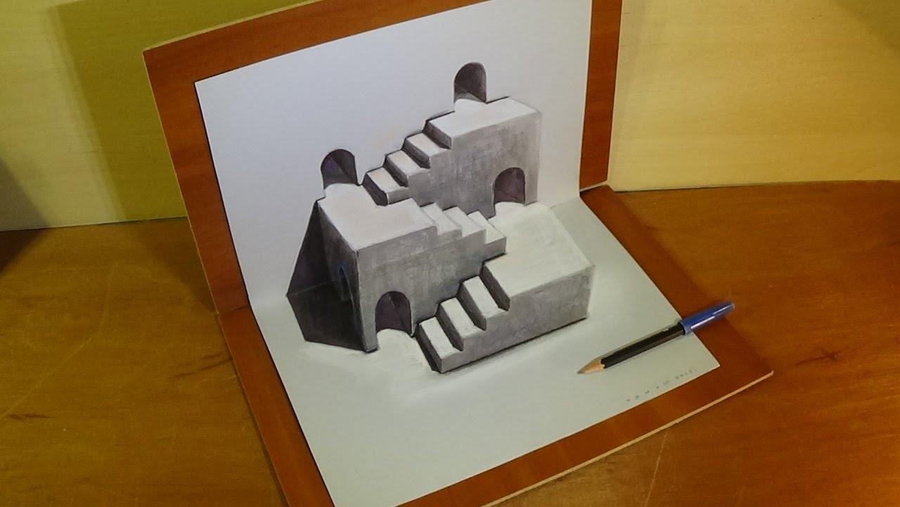 Drawn illusion space drawing #7