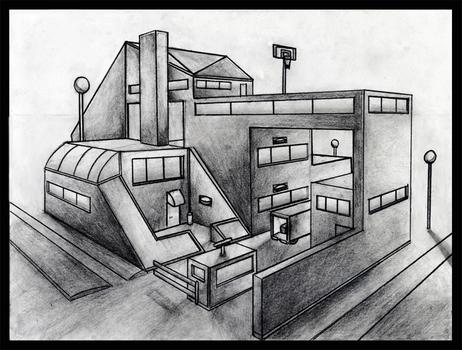 Drawn illusion space drawing #15