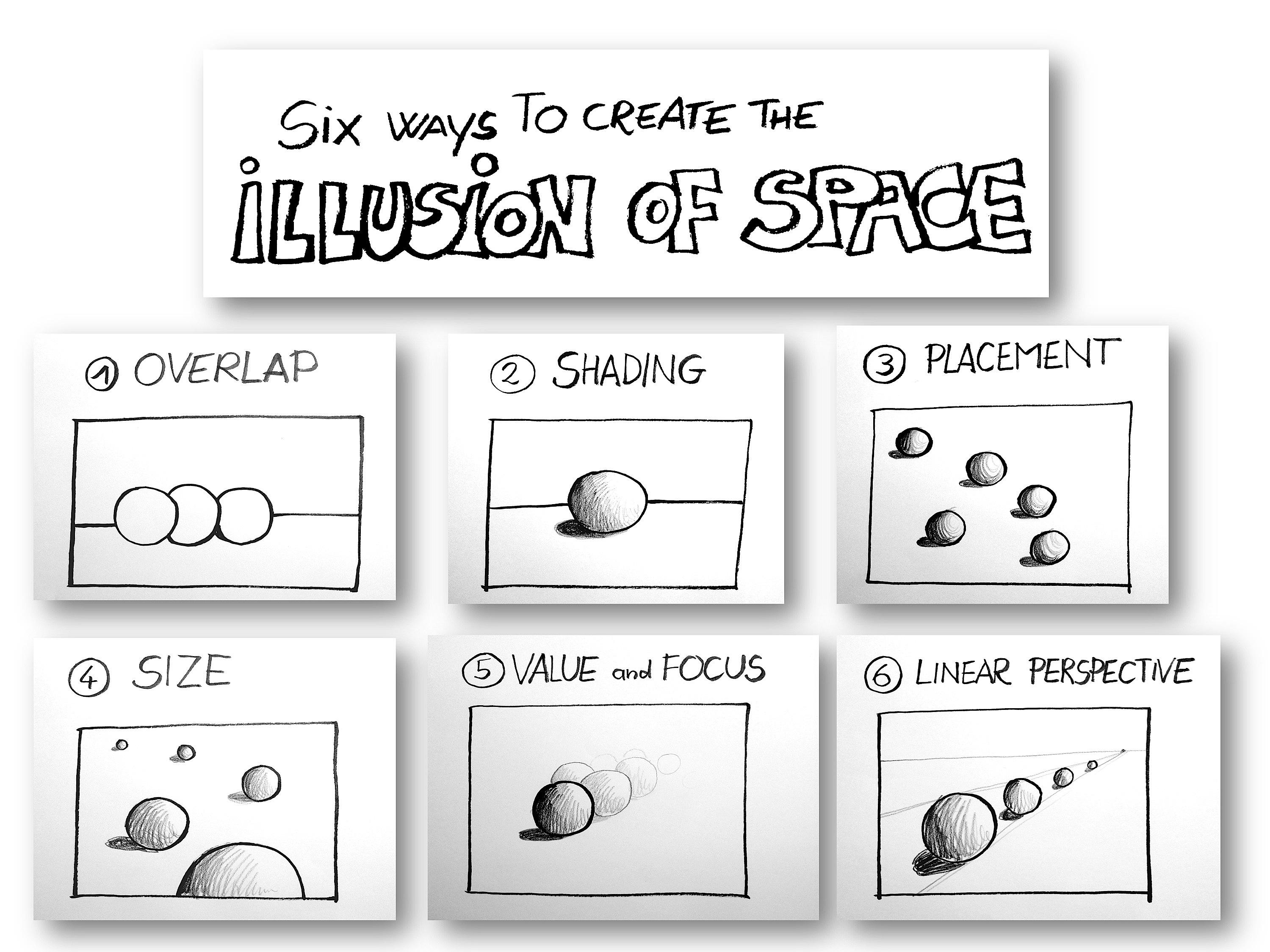 Drawn illusion space drawing #9