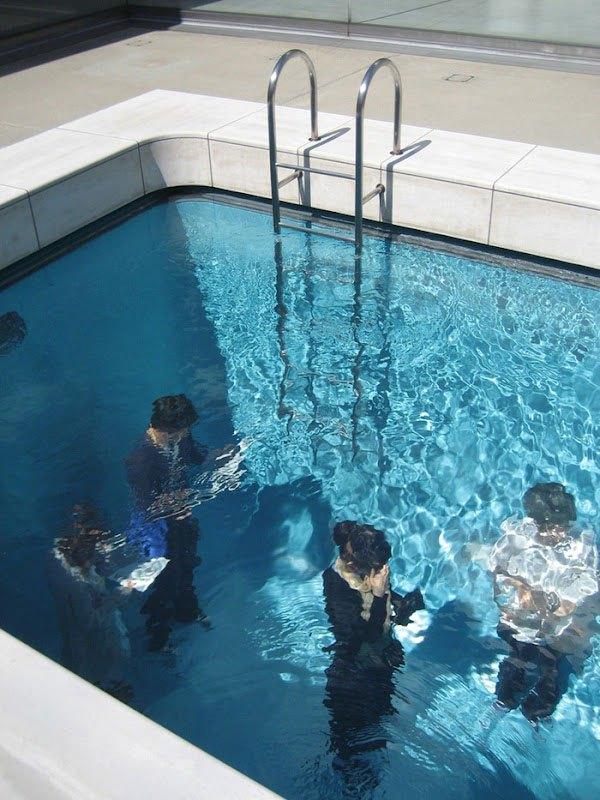 Drawn illusion swimming pool Illusion fake Pool swimming The