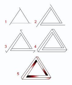 Drawn illusion zentangle #15