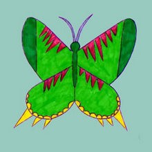 Drawn bugs kid BUTTERFLY to lesson drawing draw
