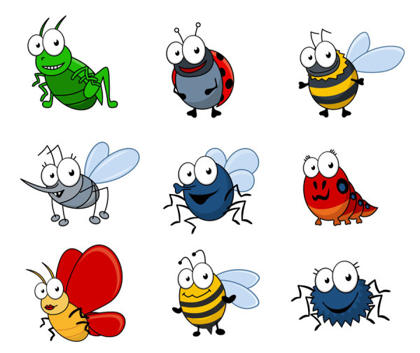 Bugs clipart silly Funny Insects Planter 04 beds