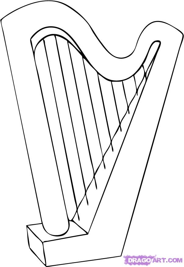 Drawn instrument How String harp Step to