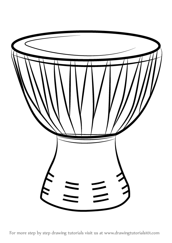 Drawn instrument How Step African Instruments) to