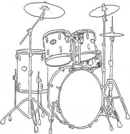 Drawn instrument Free to Coloring Kids Kids