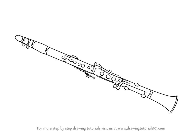 Drawn instrument oboe Draw Instruments) Clarinet Step Step