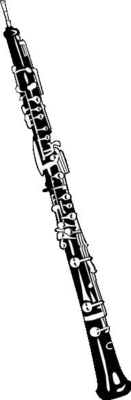 Drawn instrument oboe Clker art Oboe free online