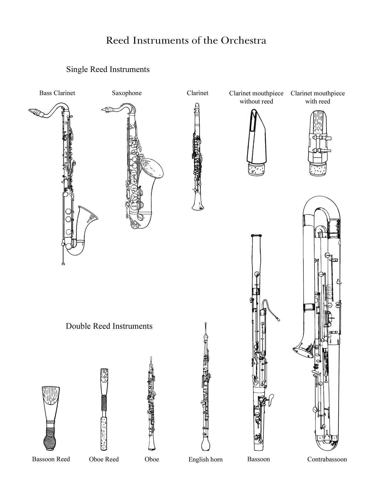 Drawn instrument orchestra music Instruments by Family
