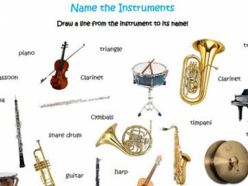 Drawn instrument orchestra music Name a line from line