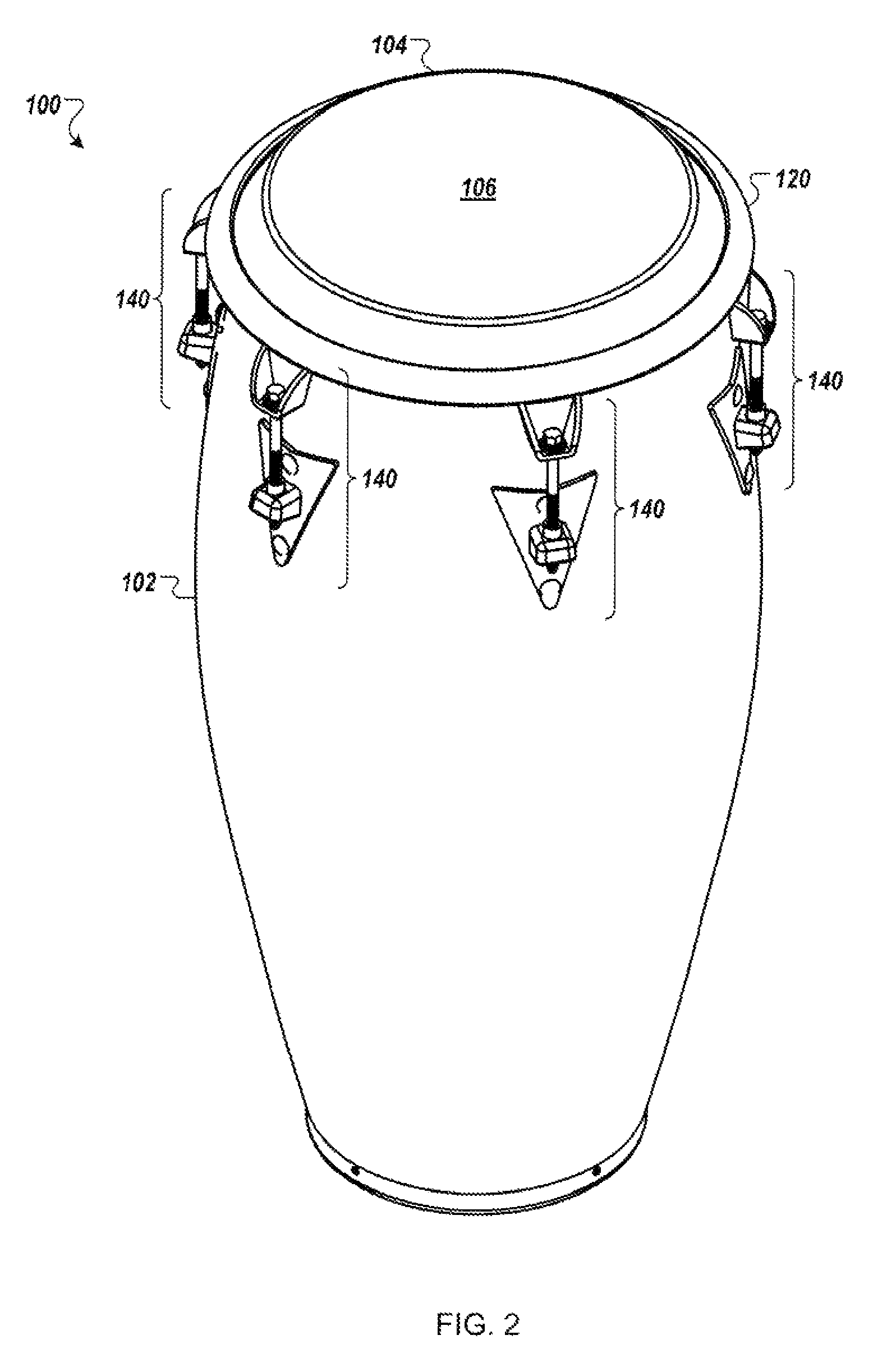 Drawn instrument percussion instrument Patent  Patent for Top