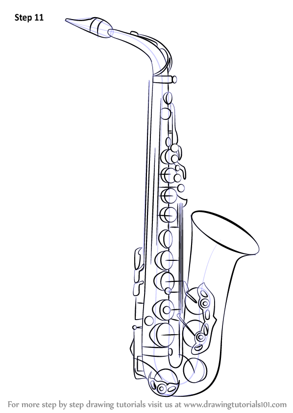 Drawn instrument saxophone How Shop Draw Instruments) (Musical
