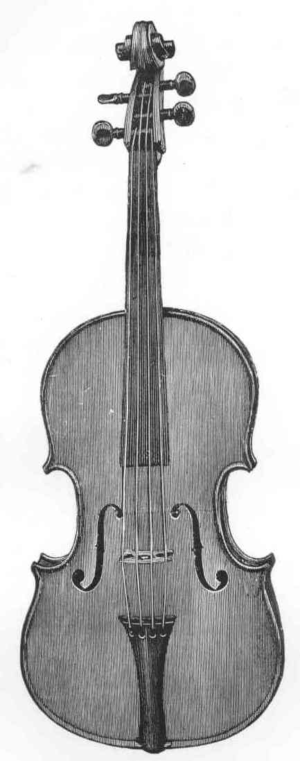 Drawn instrument viola The George Book Hart of