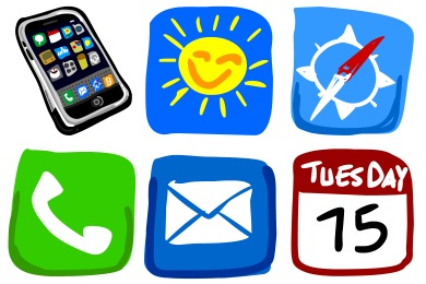Drawn iphone Icon Drawn Fast Design icons)