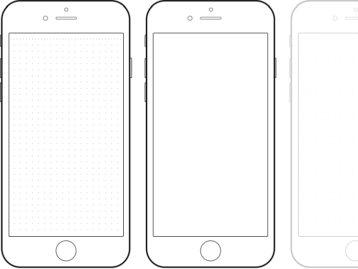 Drawn iphone Template of iPhone Interface Preview
