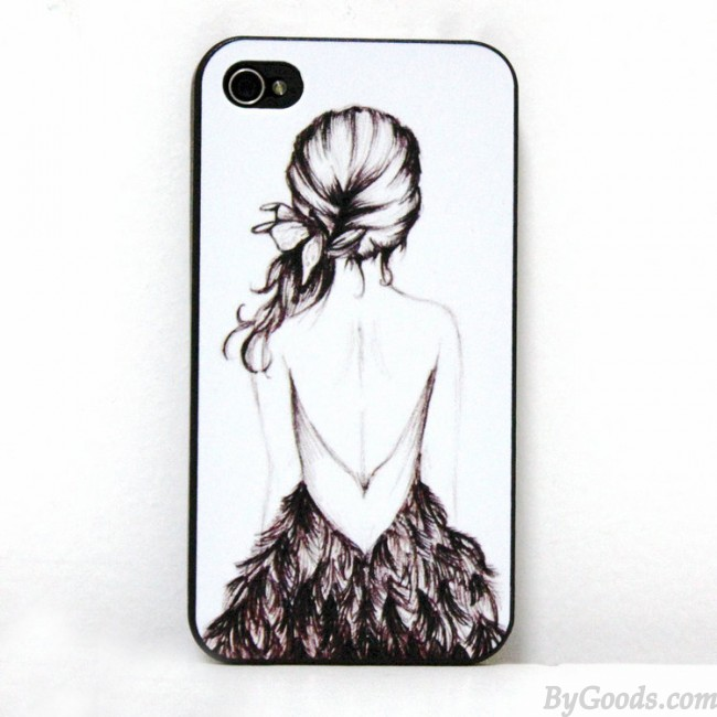 Drawn phone iphone Case Girl Case Iphone for