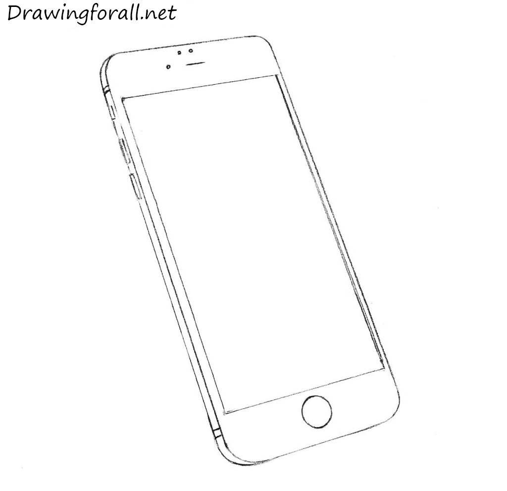Drawn telephone old telephone DrawingForAll iPhone net to an