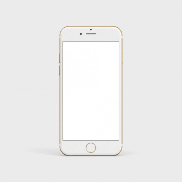 Iphone clipart vector art Mock Download White mobile Iphone