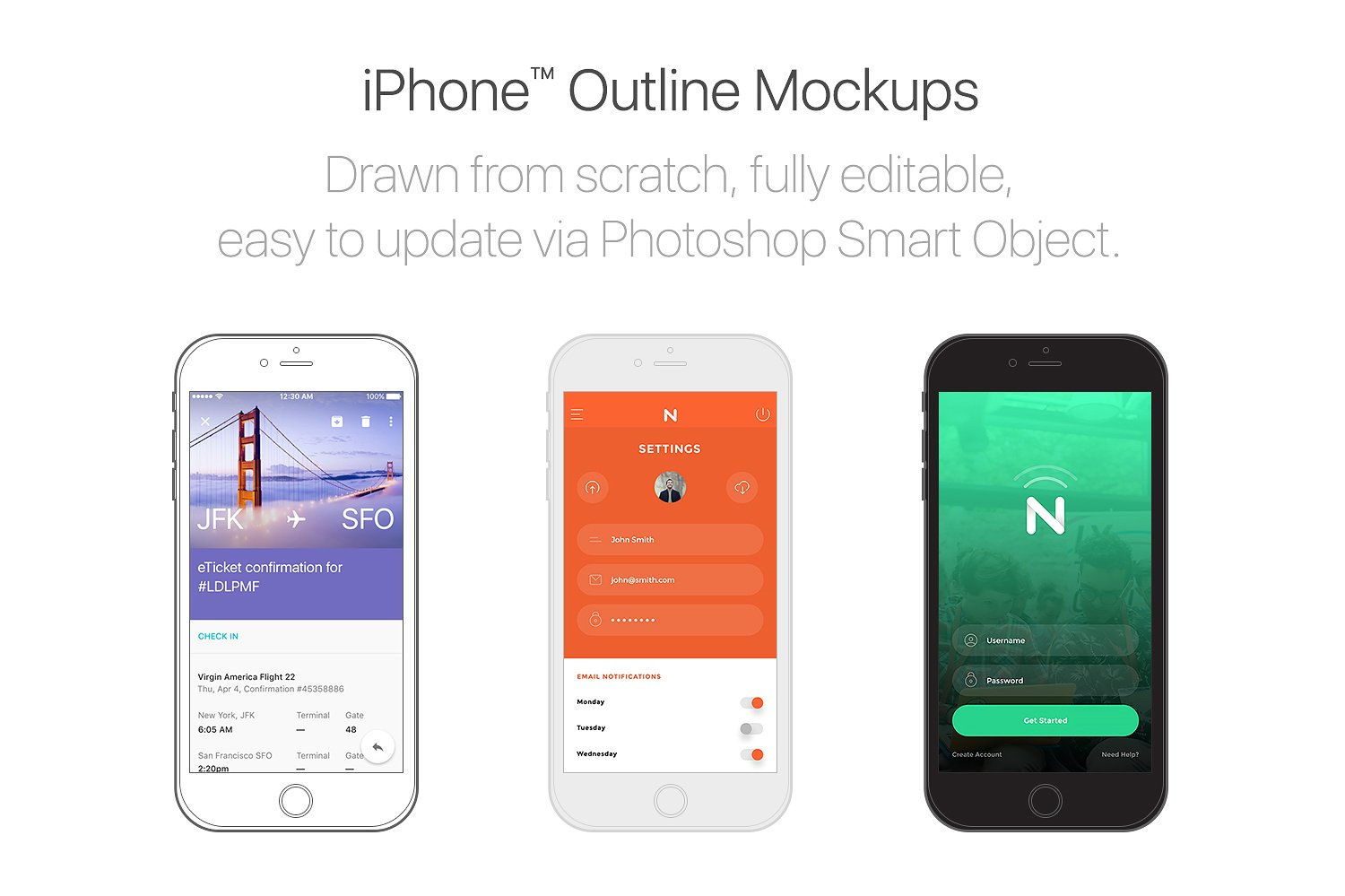 Drawn iphone object Creative Mockups  ~ iPhone™