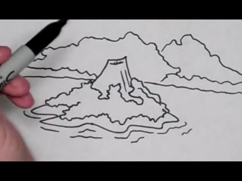 Drawn volcano small #4