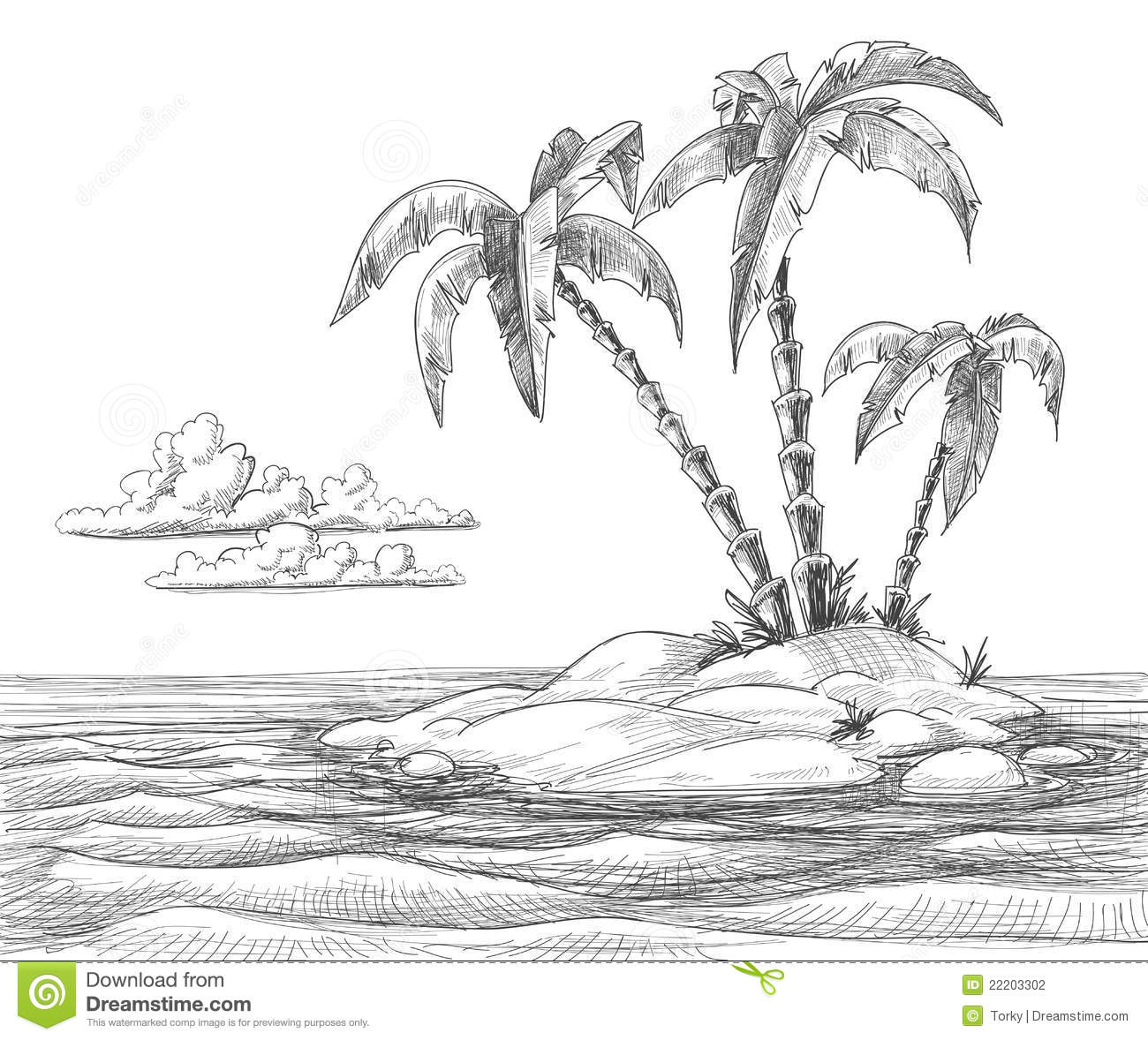 Drawn island Drawings Teardrop Landscape Bing images