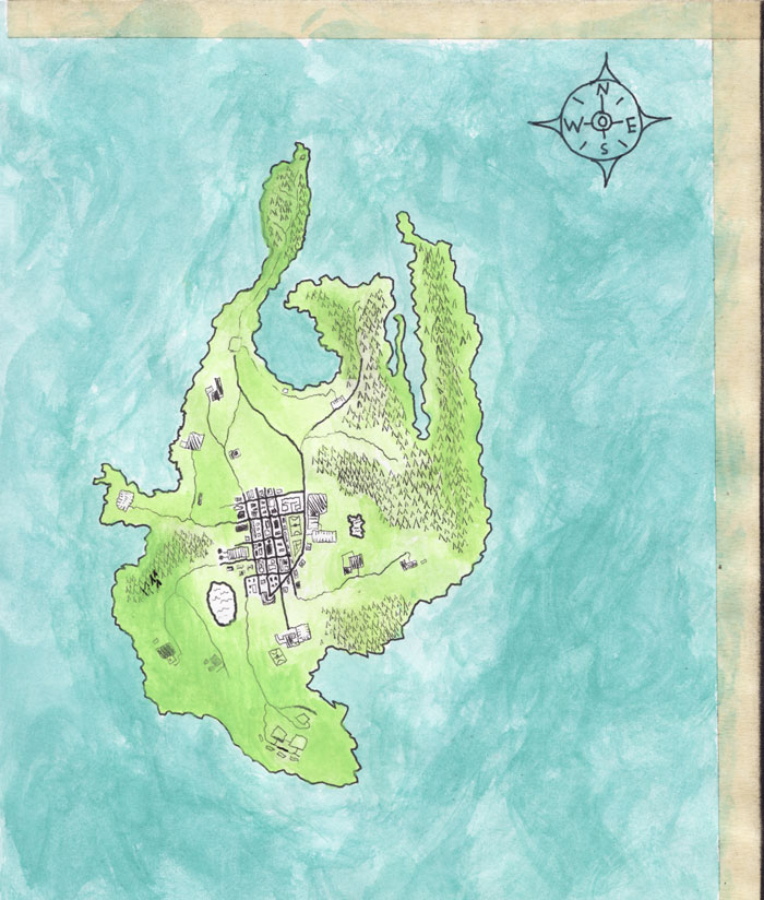 Drawn island : an the Map this