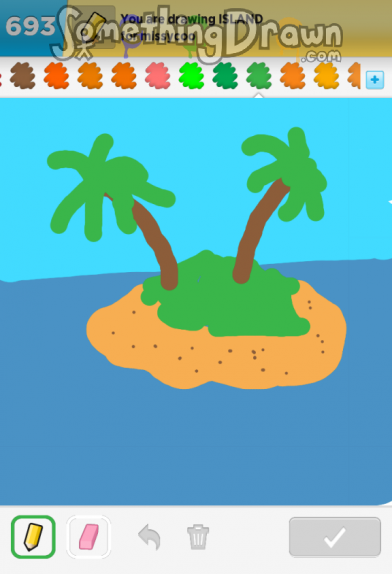 Drawn island Draw  Something ISLAND com