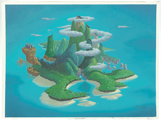 Drawn island To Animation: Island Neverland! Animation:
