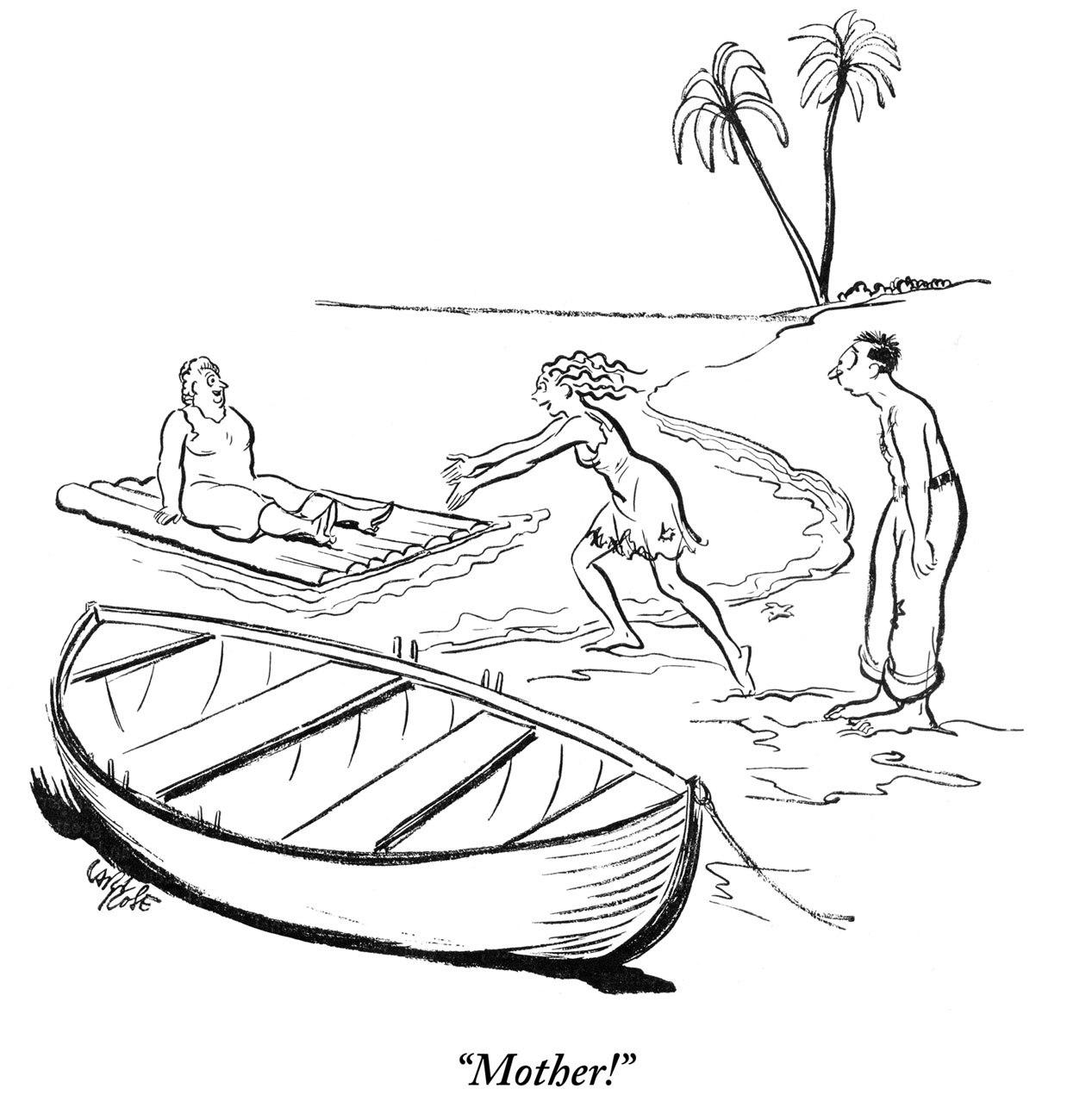 Drawn island deserted Desert Guy a Cartoon Palm