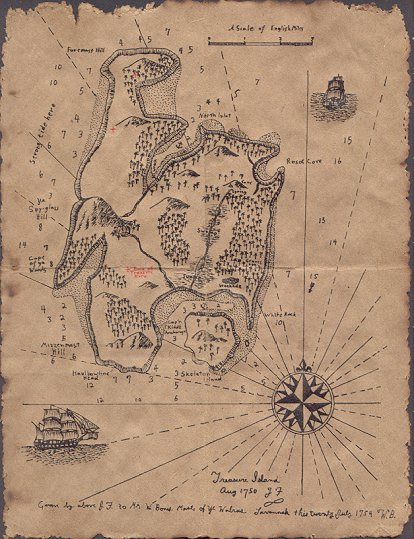 Drawn island real Miscellaneous by Treasure Island Map