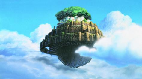 Drawn islet animated Laputa PNEUMYTHOLOGY Animated Mythology