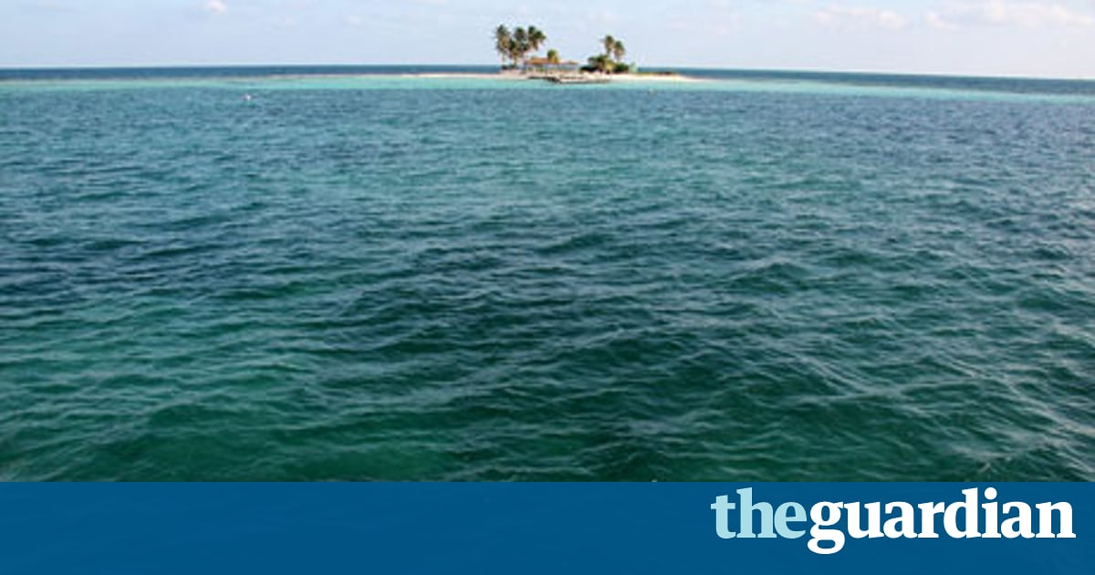 Drawn islet belize Boat The by  Travel