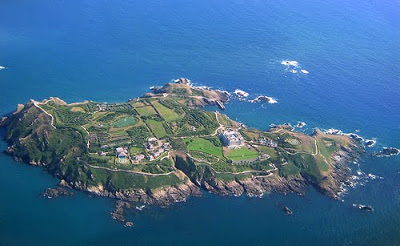 Drawn islet brecqhou Channel Islands Topic island of