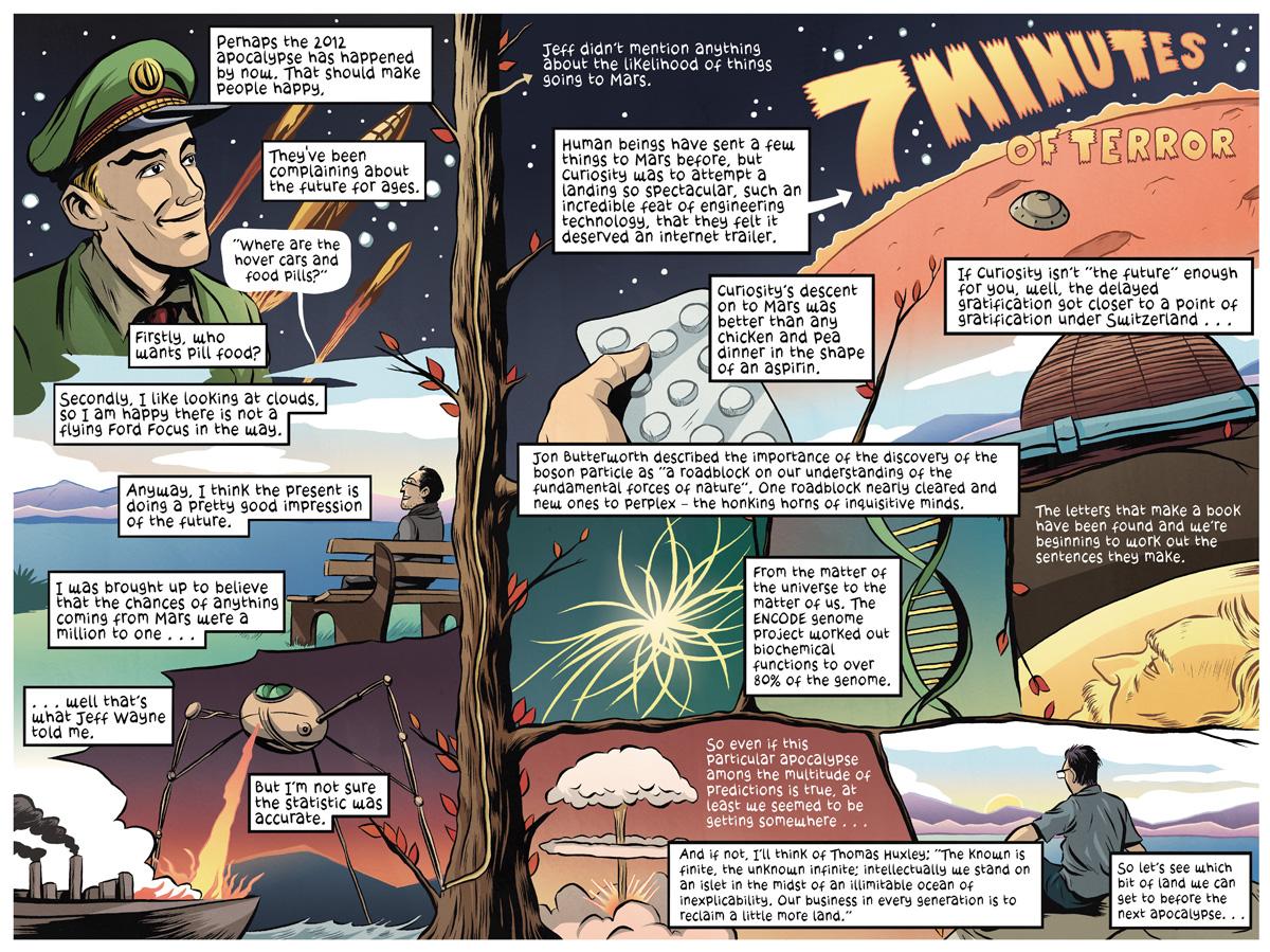 Drawn islet comic Journey