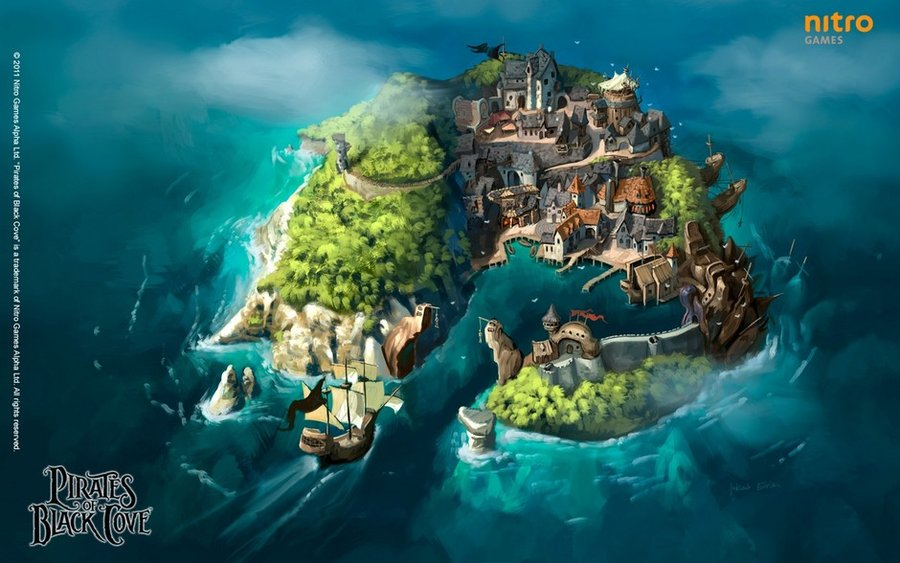 Drawn islet pc games Google deviantart Art Landscapes