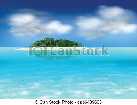 Islet clipart tropical island Tropical Vector tropical background Vector
