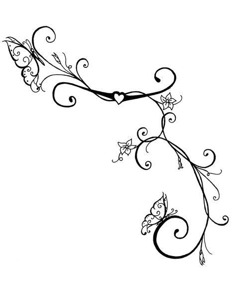Drawn vine artistic #1