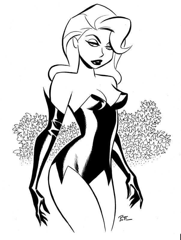 Drawn ivy cartoon Comics dc batman ivy Poison