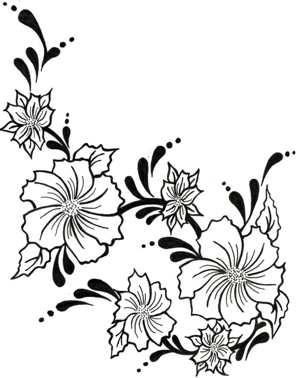 Drawn vine artistic #9