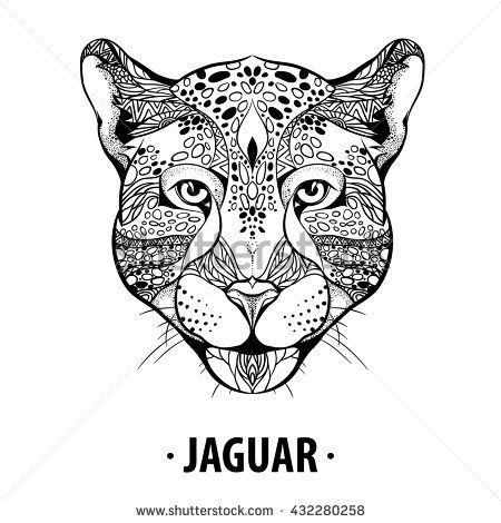 Drawn jaguar skull T images Hand best tattoo