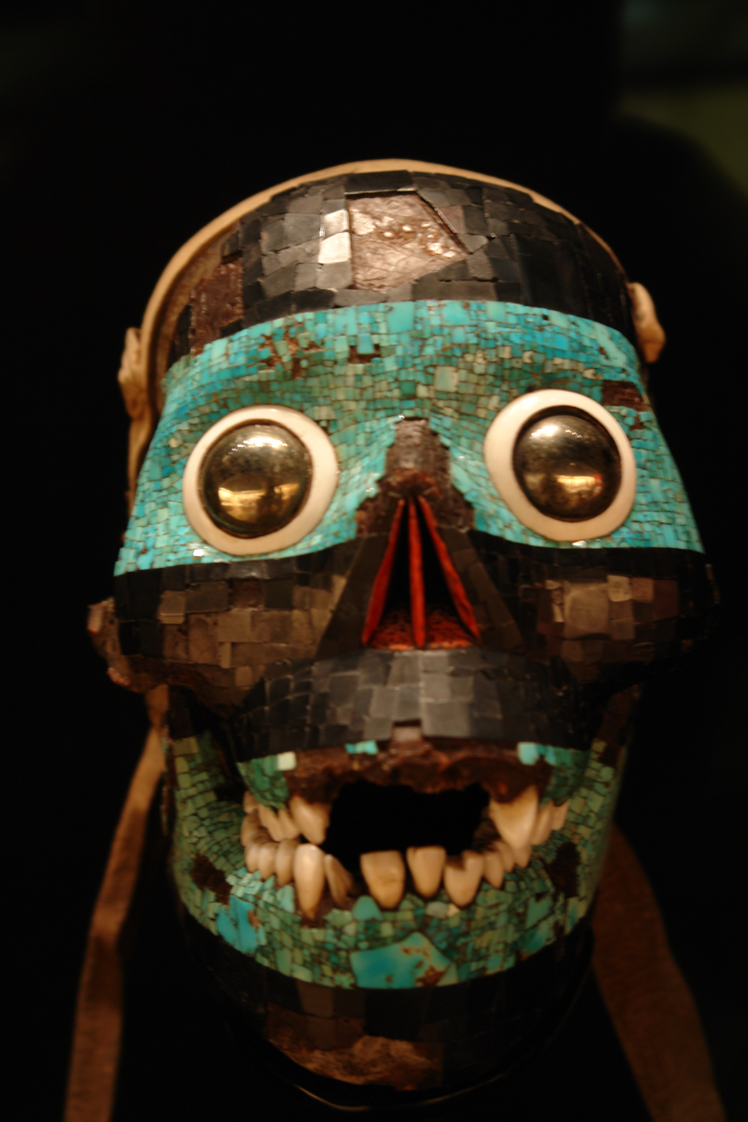 Drawn jaguar smoke From mask Tezcatlipoca representing Turquoise