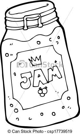 Black & White clipart jam Art of Search  Vector